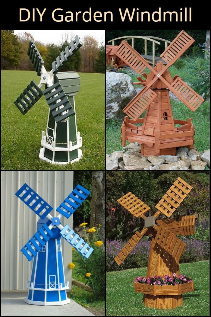 This Diy Garden Windmill Will Make A