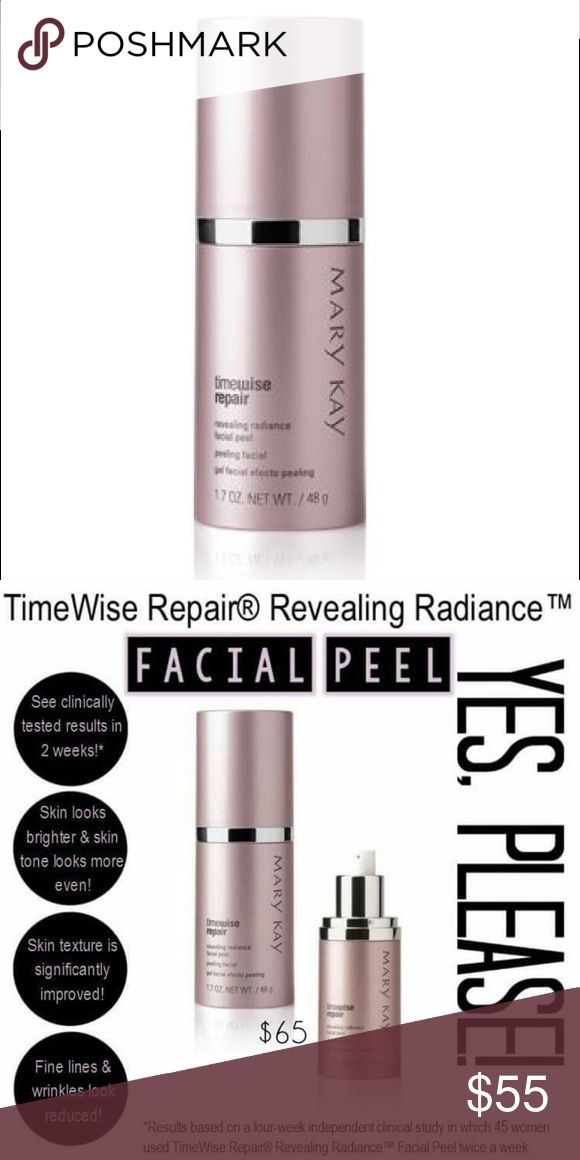 •Mary Kay• Timewise Repair Facial Peel Clinically tested results! Facial peel makes skin looks brighter! Skin texture will be significantly improved! And best of all fine lines and wrinkles look reduced!! Mary Kay Other
