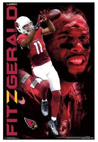 efb583a212d5 Trends International Arizona Cardinals Larry Fitzgerald Unframed Wall  Poster  yards receptions receiving