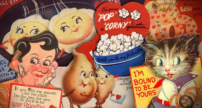 Vintage Sexual and Creepy Valentine's Day Cards