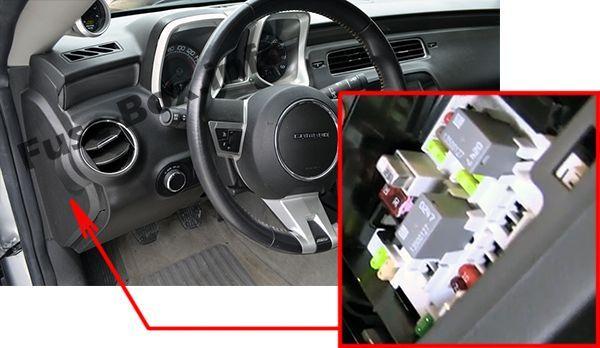 chevrolet camaro (2010-2015) < fuse box location | chevrolet camaro 2010,  chevrolet camaro, camaro  pinterest
