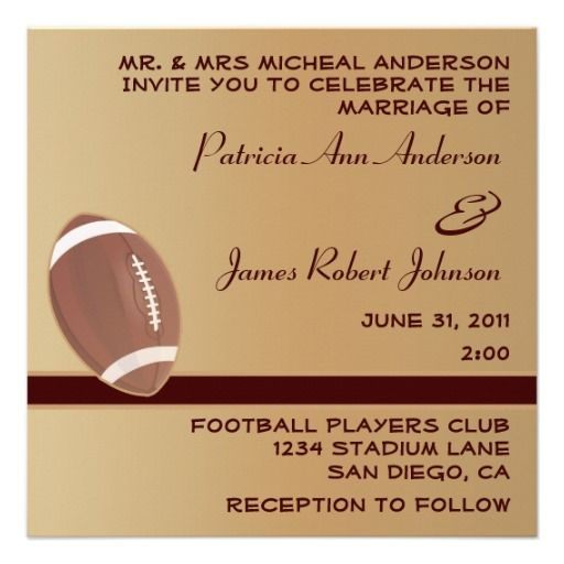 17 Best Images About Sports Wedding Invitations On Pinterest
