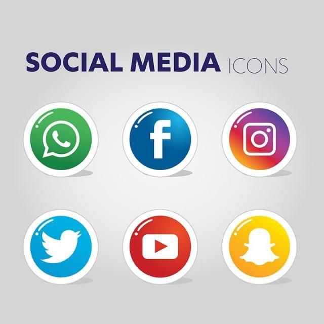 أيقونات وسائل التواصل الاجتماعي الرموز الاجتماعية الأيقونات وسائل الإعلام أيقونات وسائل التواصل الاجتماعي Png والمتجهات للتحميل مجانا Social Media Icons Social Media Icons Vector Media Icon