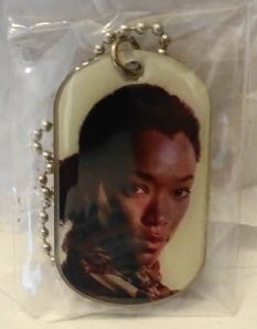 AMC The Walking Dead Sasha Williams Season 4 dog tag with bag,  sticker,D-ring, checklist and keyring $14.99