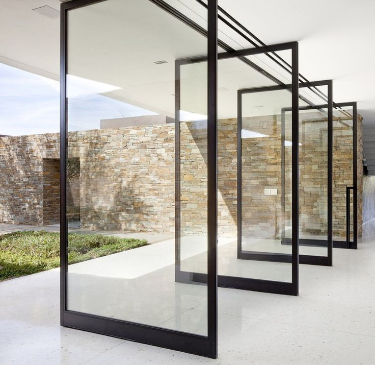 25 best ideas about pivot doors on pinterest for Glass sliding entrance doors