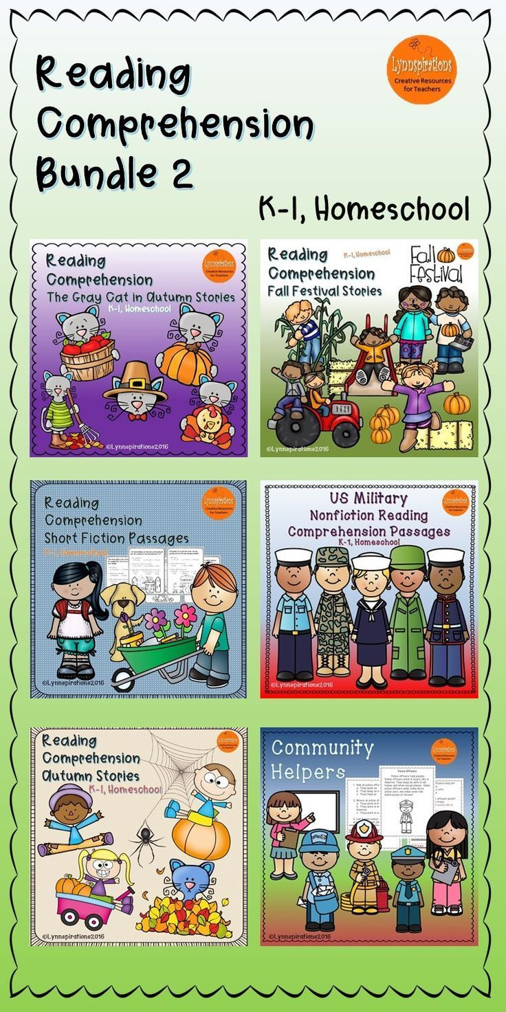 This reading comprehension bundle for grades K-1 can be used in your class to help your students with reading comprehension skills as well as with test taking skills. It includes 6 resources listed below.  Please take a preview peek!   Includes:  Community Workers Fall Festival Gray Cat Autumn Stories Reading Comprehension Short Fiction Stories US Military Autumn Stories