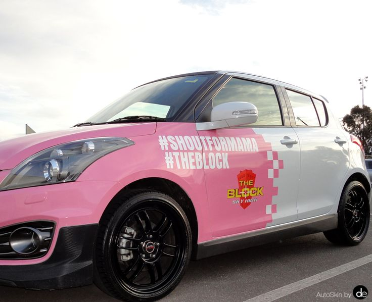 AutoSkin by Decently Exposed, Breast Cancer Awareness #shoutformama #theblock #suzukiswift #hatchbackvehiclewrap