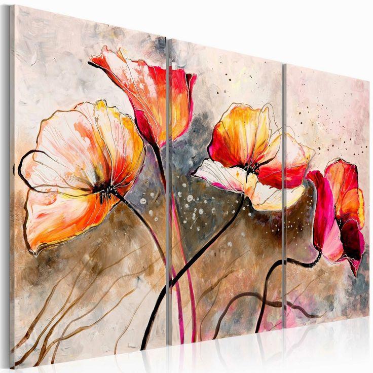 Toile imprimee fleurs tableau d ci prix pas cher cl matite pinterest t - Grande toile a peindre pas cher ...