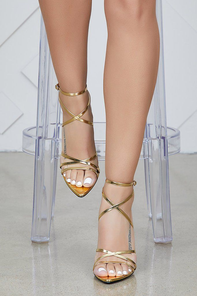 23a4e8a4381 Jazz Pointed Toe Strappy Heel (Gold)