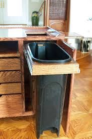 under sink trash can pull out trash can trash can cabinet double