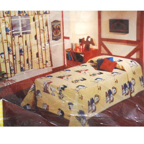 Vintage PEanuts Bedset