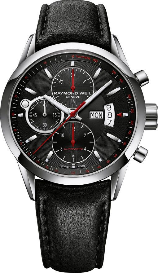 Raymond Weil Watch Freelancer. http://www.thesterlingsilver.com/product/cartier-tank-francaise-we10456h/