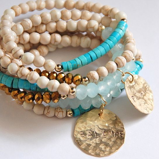 Oh the Beach!!! Take it with you everywhere.This bracelet set is just that...