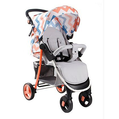 My Babiie Billie Faiers MB30 Coral Chevron Pushchair | Baby | George at ASDA