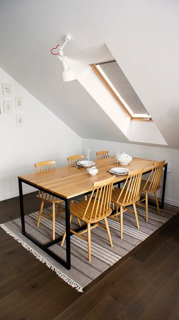 Dining Table Wooden Table Desk Industrial Oak Esszimmer Steel Dining Table Table Und Industrial Dining