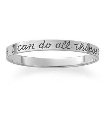 "My favorite verse on a bracelet... ""I Can Do All Things"" Bangle Bracelet | James Avery"