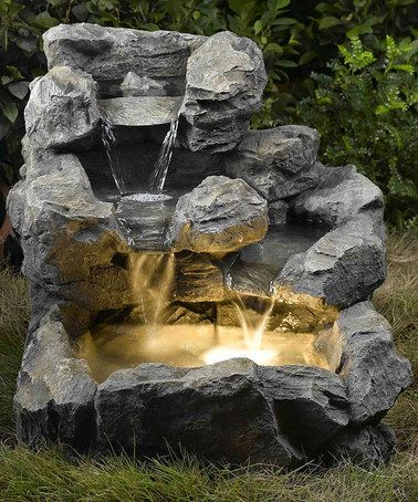 Loving this Rock Creek Cascading Outdoor/Indoor Fountain & Light on #zulily! #zulilyfinds