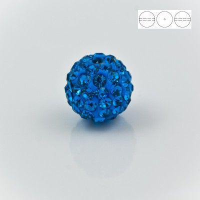 Discoball Bead 10mm Sapphire  Dimensions: 10mm Stones which were used in a ball are from Preciosa Company  1 package = 1 piece
