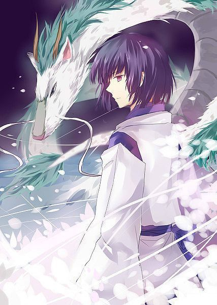 Nigihayami Kohakunushi (literally, God of the Swift Amber River) also known as Haku. Correct? He's the young boy in the anime film Spirited Away.: