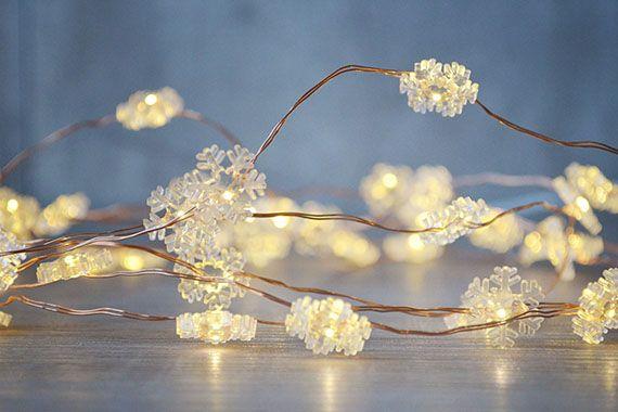 Lyslenke med snøkrystaller i kobber. 20 lys