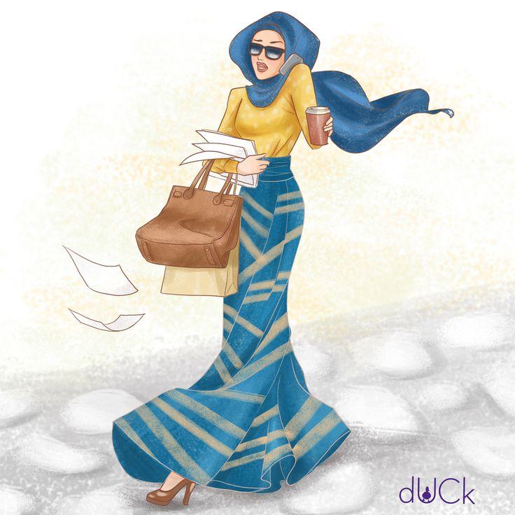 dUCk scarves instagram illustration by Soefara