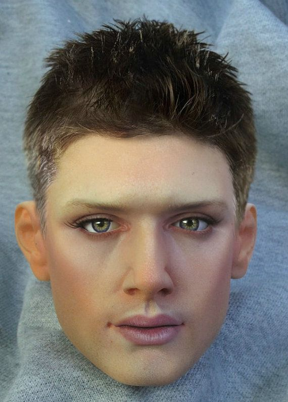 1/3 Size Jensen Ackles Dean Winchester BJD Head from by natrume, $137.00