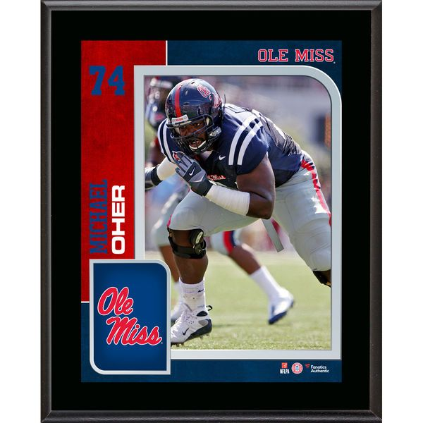 "Michael Oher Ole Miss Rebels Fanatics Authentic 10.5"" x 13"" Sublimated Player Plaque - $29.99"