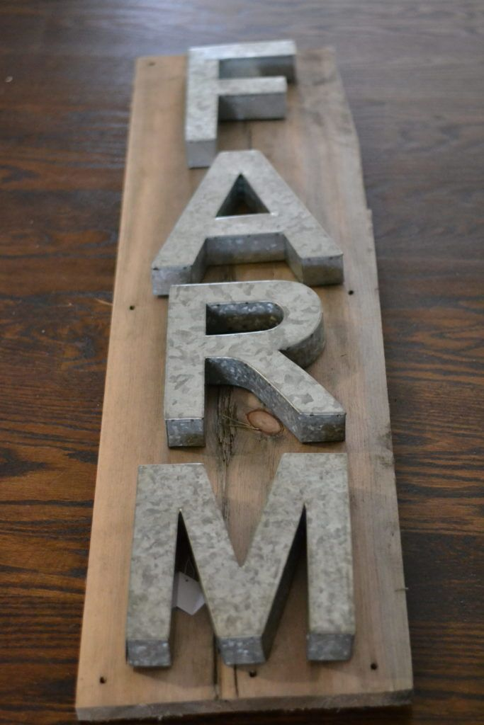 Metal Letter Sign Easy DIY Industrial Farmhouse sign