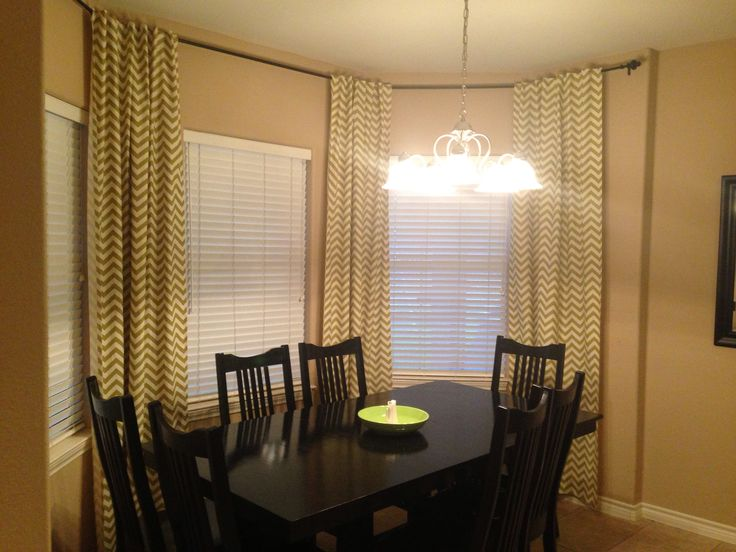 Should dining room curtains touch the floor best gray Short curtain rods