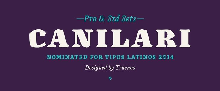 Typeface name: Canilari Year created: 2016 Foundry/Designer: Latinotype/Patricio Truenos Country: Chili Style: Post-modern, serif  Comments: Canilari could be considered somewhat of an outcast typeface. It's hard to pinpoint where exactly it fits into the context of typographic history, and that's great for inspiring creativity.  Sometimes a strange typeface is what a logo designer needs to take a brand out of the box.