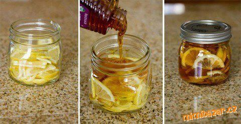 zázvor, citron, med