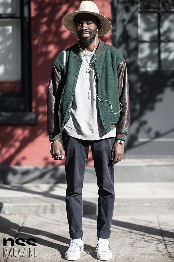 2015-12-23のファッションスナップ。着用アイテム・キーワードはカットソー・トレーナー, スニーカー, ハット, ブルゾン, 黒パンツ,アディダス(adidas)etc. 理想の着こなし・コーディネートがきっとここに。| No:134045