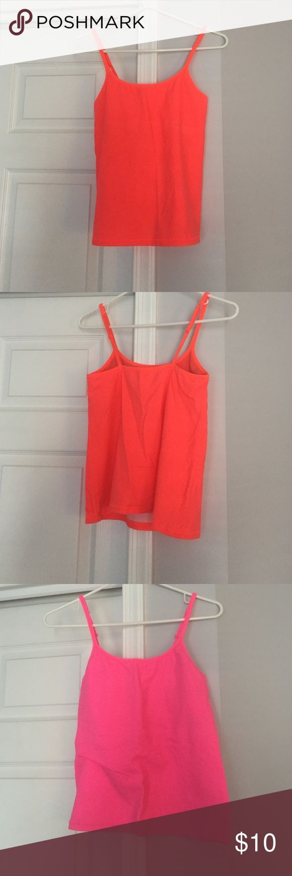 Pink Cami Worn once. No rips/tears/stains. Fits small- fits like a M. Both very bright! Neon colors! PINK Victoria's Secret Tops Camisoles