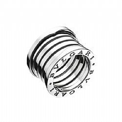 iconic bvlgari b white gold 5 band ring up for sale
