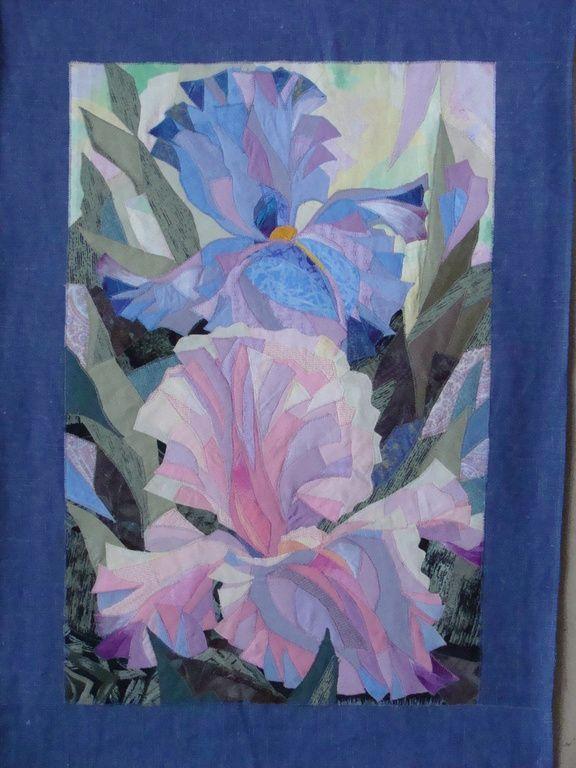 Iris quilt by Valentina Maximova.