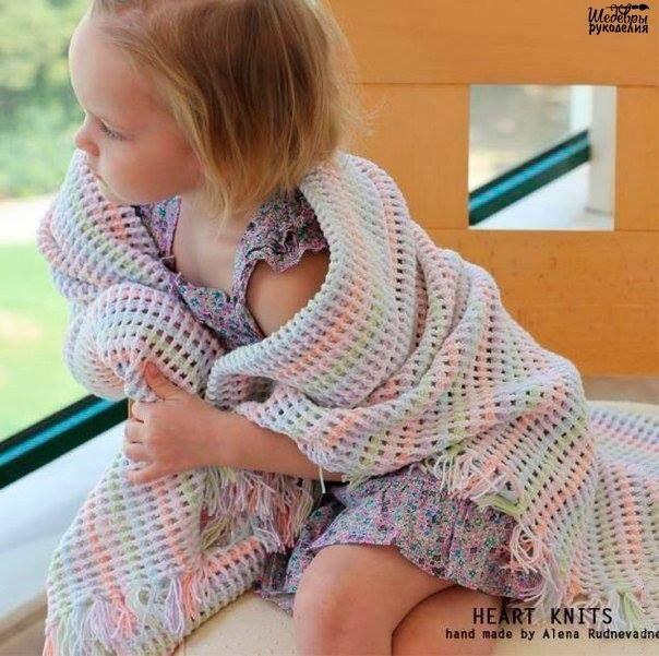 Mantita tierna a crochet