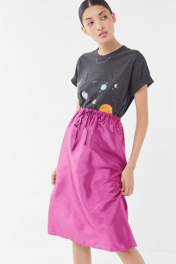 b6cf9d0ae3 UO Austen Drawstring Midi Skirt in 2019