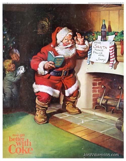Vintage Christmas Ad ~ Coca Cola