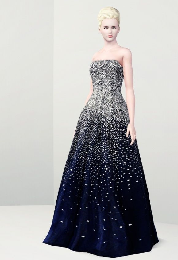 Sparkling Diamonds Sims3 evening dresses at Rusty Nail - Sims 3 Finds