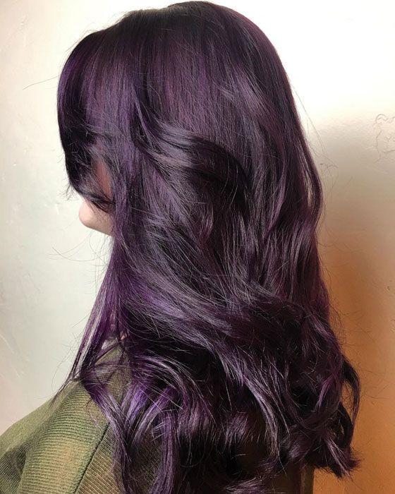 Plum Hair Color Dye Deep Black Plum Ideas For Brown Hair