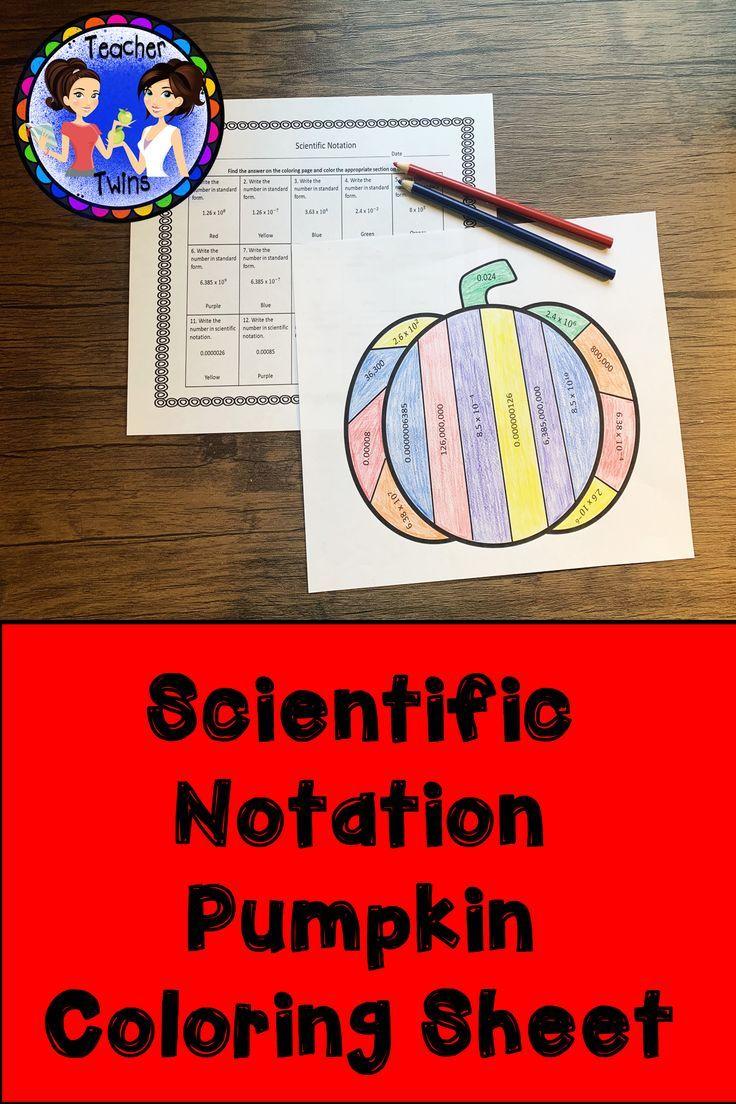Scientific Notation Pumpkin Coloring Sheet Notations Pre Algebra Activities Algebra Activities [ 1104 x 736 Pixel ]