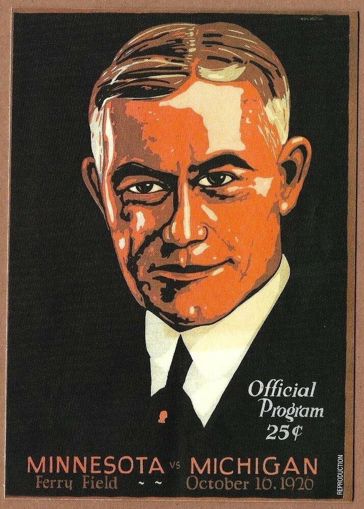 Minnesota Golden Gophers Framed Vintage Postcard