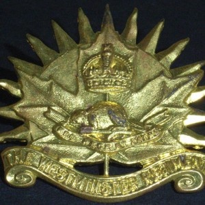 Westminster Regiment Hat/Cap Badge