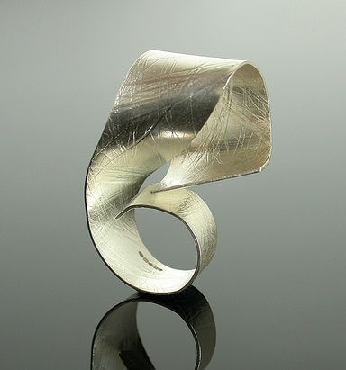 Ring | Elaine Cox.  'Swirl'  Silver
