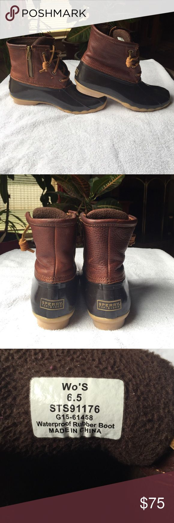 Sperry Women's Duck Boots Good condition, been worn maybe 15 times. Bought them in January 2016. Very comfy! Sperry Top-Sider Shoes Winter & Rain Boots