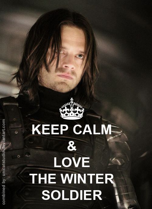 Keep Calm and Love the Winter Soldier! - visit to grab an unforgettable cool 3D Super Hero T-Shirt! More