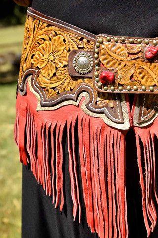 The Annie Oakley   Wild Bleu. Custom Tooled Leather Work