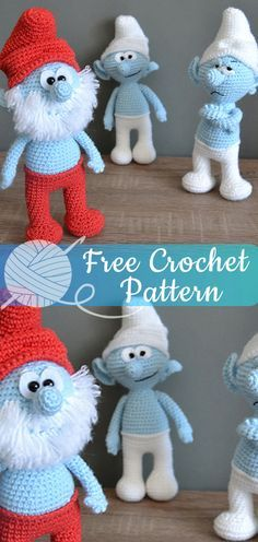 Amigurumi Papa Smurf [CROCHET FREE PATTERNS] #freecrochetpatterns #crochet #free...