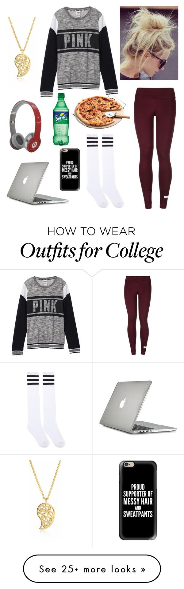 """Lazy days are a must"" by emily-colquitt on Polyvore featuring Victoria's Secret, adidas, Sonal Bhaskaran, Speck, Beats by Dr. Dre and Casetify"