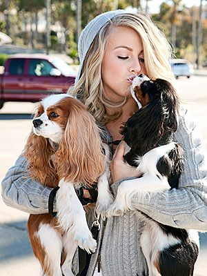 Julianna Hough with her cavaliers